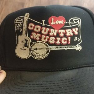 "Vintage ""I love country music"" Hat"